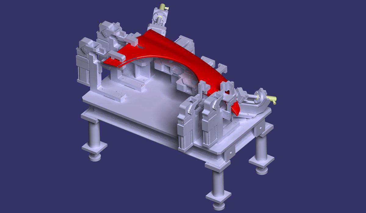 مدلسازی سه بعدی فیکسچر